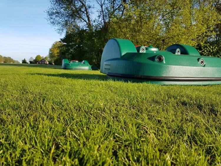 Sportpark De Kluis heeft een Belrobotics Bigmow en Parcmow op proef.